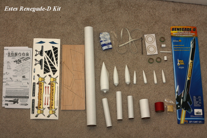 Unpacking Estes Renegade-D kit