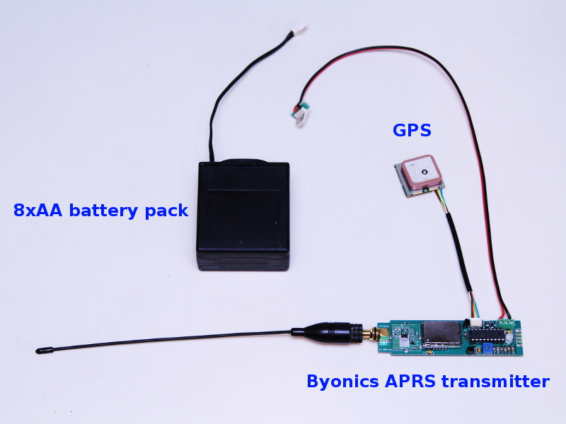 Byonics APRS with GPS and battery pack